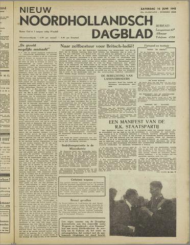 Nieuw Noordhollandsch Dagblad : voor Alkmaar en omgeving 1945-06-16