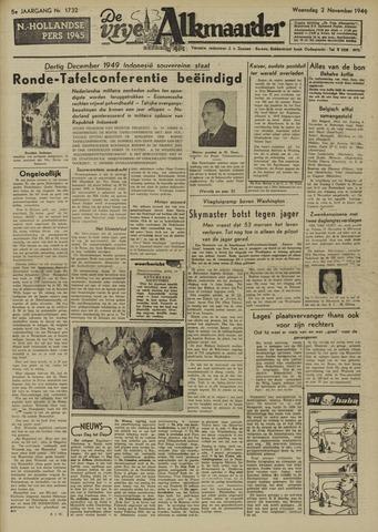 De Vrije Alkmaarder 1949-11-02