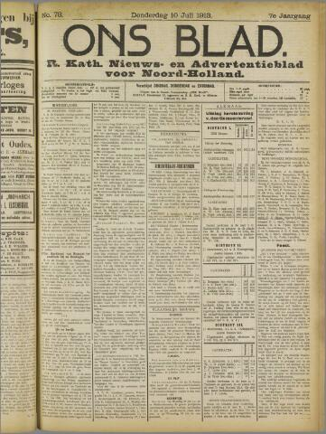 Ons Blad : katholiek nieuwsblad voor N-H 1913-07-10