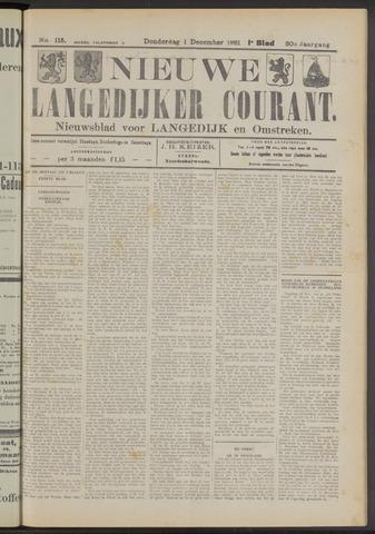 Nieuwe Langedijker Courant 1921-12-01