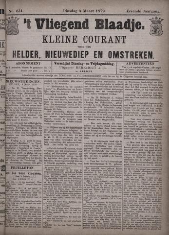 Vliegend blaadje : nieuws- en advertentiebode voor Den Helder 1879-03-04