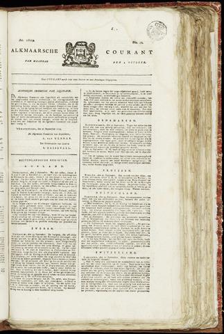 Alkmaarsche Courant 1819-10-04