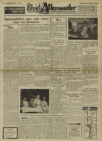 De Vrije Alkmaarder 1949-10-15