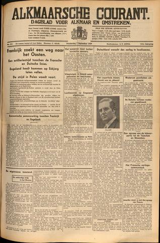 Alkmaarsche Courant 1939-09-07