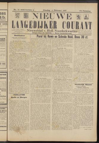 Nieuwe Langedijker Courant 1927-02-22