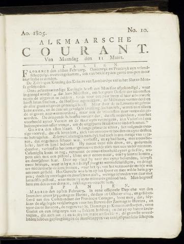 Alkmaarsche Courant 1805-03-11