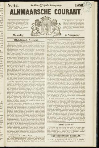 Alkmaarsche Courant 1856-11-03