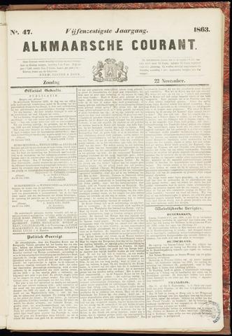 Alkmaarsche Courant 1863-11-22