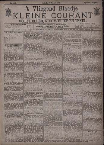 Vliegend blaadje : nieuws- en advertentiebode voor Den Helder 1887-01-08