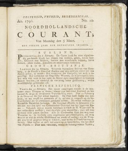 Noordhollandsche Courant 1798-03-05