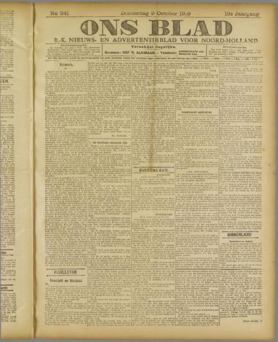 Ons Blad : katholiek nieuwsblad voor N-H 1919-10-09