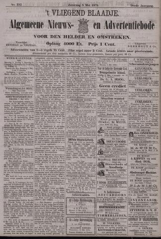 Vliegend blaadje : nieuws- en advertentiebode voor Den Helder 1875-05-08