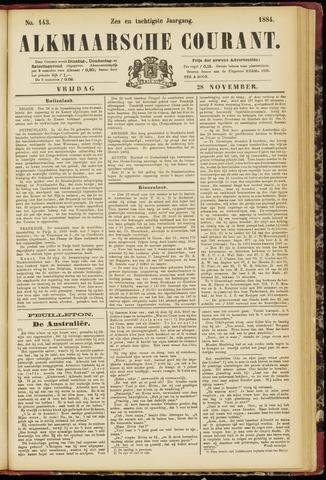 Alkmaarsche Courant 1884-11-28