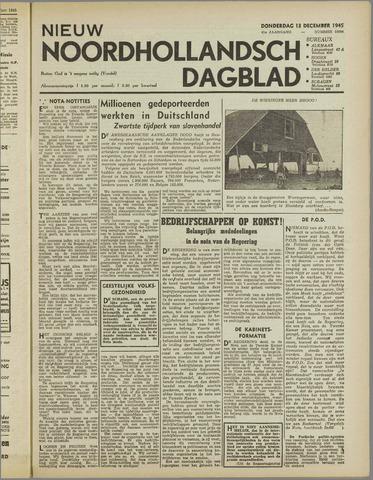 Nieuw Noordhollandsch Dagblad : voor Alkmaar en omgeving 1945-12-13