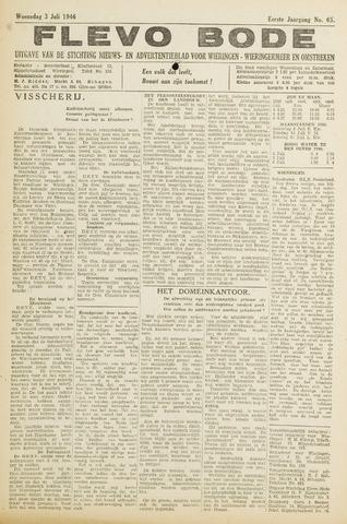 Flevo-bode: nieuwsblad voor Wieringen-Wieringermeer 1946-07-03