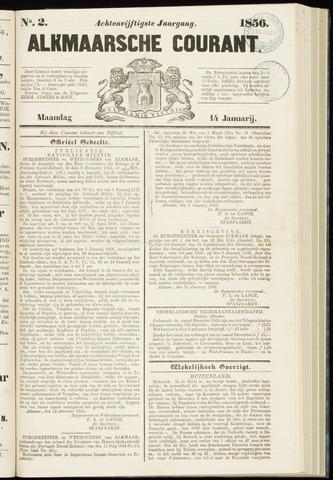 Alkmaarsche Courant 1856-01-14