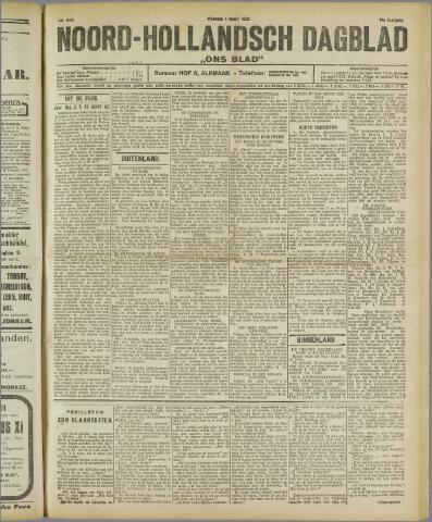 Ons Blad : katholiek nieuwsblad voor N-H 1922-03-01
