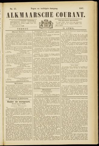Alkmaarsche Courant 1887-04-15