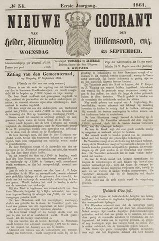 Nieuwe Courant van Den Helder 1861-09-25