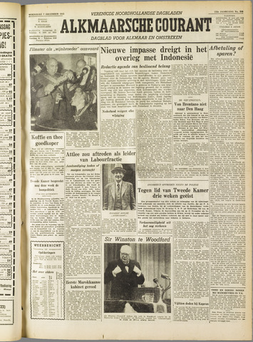 Alkmaarsche Courant 1955-12-07