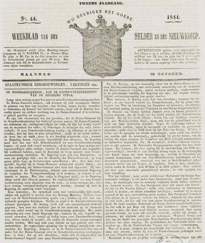 Weekblad van Den Helder en het Nieuwediep 1844-10-28