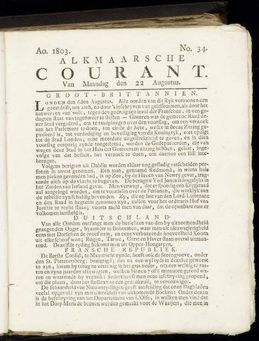 Alkmaarsche Courant 1803-08-22
