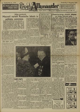 De Vrije Alkmaarder 1949-11-17