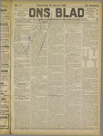 Ons Blad : katholiek nieuwsblad voor N-H 1918-01-24