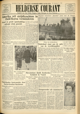 Heldersche Courant 1954-08-19