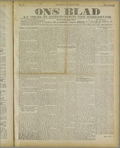 Ons Blad : katholiek nieuwsblad voor N-H 1920-01-22