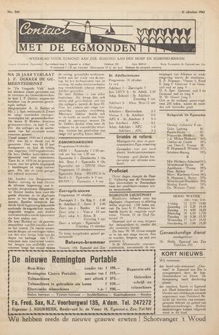 Contact met de Egmonden 1962-10-11