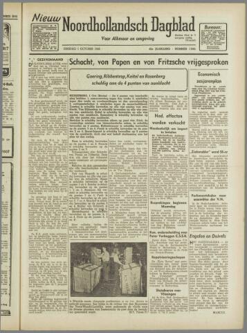 Nieuw Noordhollandsch Dagblad : voor Alkmaar en omgeving 1946-10-01