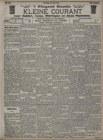 Vliegend blaadje : nieuws- en advertentiebode voor Den Helder 1908-04-29