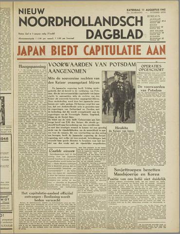 Nieuw Noordhollandsch Dagblad : voor Alkmaar en omgeving 1945-08-11