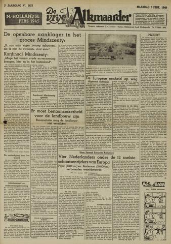 De Vrije Alkmaarder 1949-02-07