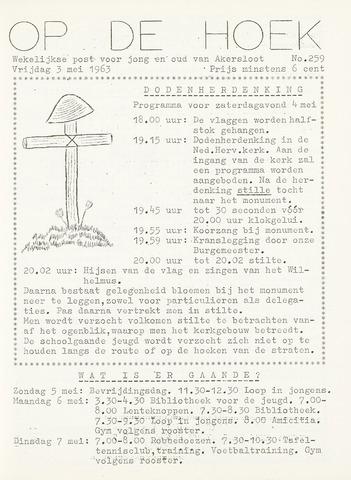 Op De Hoek, weekblad voor Akersloot 1963-05-03