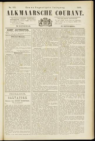 Alkmaarsche Courant 1889-09-18