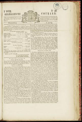 Alkmaarsche Courant 1852-07-05