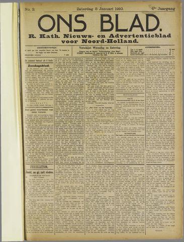 Ons Blad : katholiek nieuwsblad voor N-H 1910-01-08