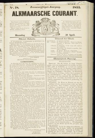 Alkmaarsche Courant 1855-04-30