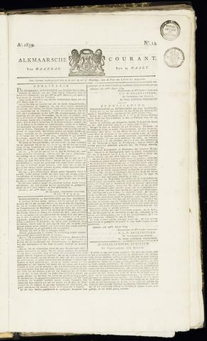 Alkmaarsche Courant 1839-03-25