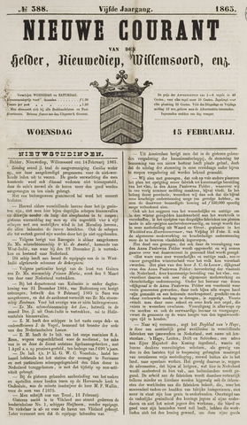 Nieuwe Courant van Den Helder 1865-02-15