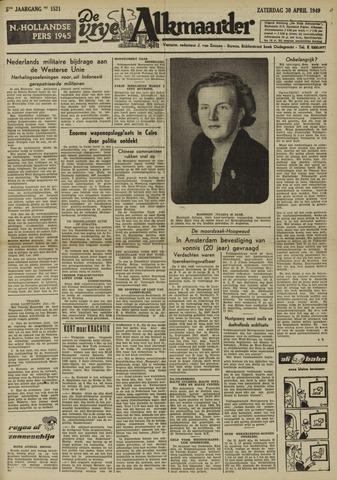 De Vrije Alkmaarder 1949-04-30