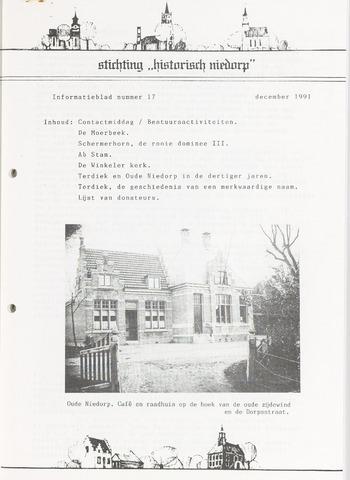 Informatieblad stichting Historisch Niedorp 1991-12-01