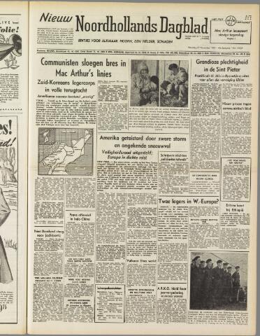 Nieuw Noordhollandsch Dagblad : voor Alkmaar en omgeving 1950-11-27