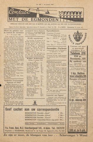 Contact met de Egmonden 1964-01-16