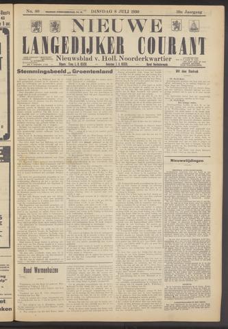 Nieuwe Langedijker Courant 1930-07-08