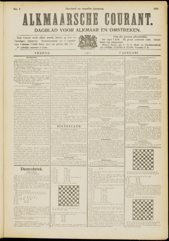 Alkmaarsche Courant 1910-01-07