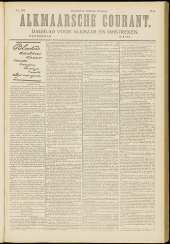 Alkmaarsche Courant 1914-07-16