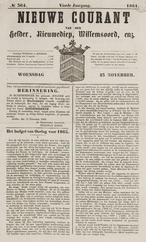 Nieuwe Courant van Den Helder 1864-11-23